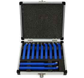 Soustružnické nože, sada 11ks, 8x8mm, uloženo v kufru GEKO