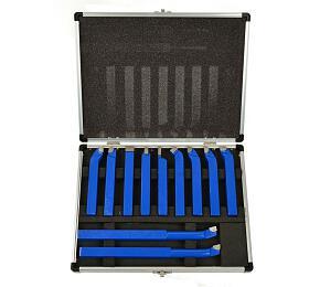 Soustružnické nože, sada 11ks, 12x12mm, uloženo v kufru GEKO
