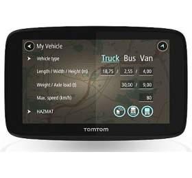 TomTom GOPROFESSIONAL 6250 -LIFETIME mapy sdoživotní Traffic službou arychlostními radary, vestavěná SIM