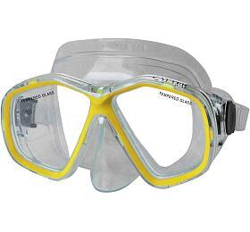 Potápěčská maska CALTER JUNIOR 276P Rulyt, žlutá