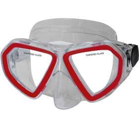 Potápěčská maska CALTER KIDS 285P Rulyt, červená