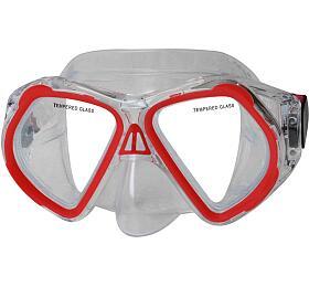 Potápěčská maska CALTER JUNIOR 4250P Rulyt, červená