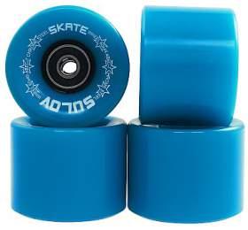Kolečka Penny board NEON BLUE 60 x 45mm 85A Sulov, sada 4ks, s ložisky