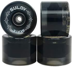 Kolečka Penny board BLACK TRANSPARENT 60 x 45mm 85A Sulov, sada 4ks, s ložisky