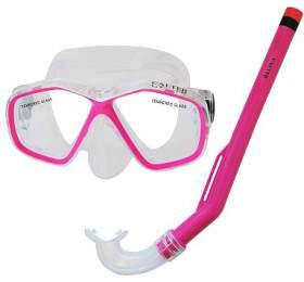 Potápěčský set CALTER KIDS S06+M278 PVC Rulyt, růžový
