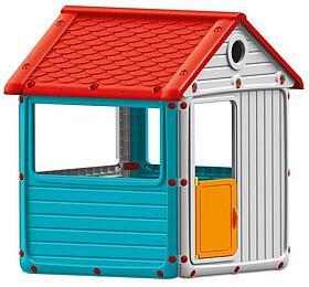 Dětský zahradní domeček, plastový, modrý DOLU