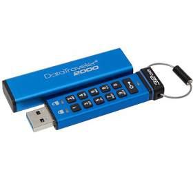 KINGSTON DT2000 32GB /USB 3.0 /256-bit AES HWšifrování /keypad /modrá