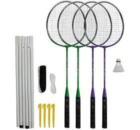 Badmintonový set 4xraketa Rulyt, 1xmíček, síť, vak