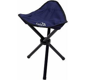 Židle kempingová skládací OSLO modrá, CATTARA