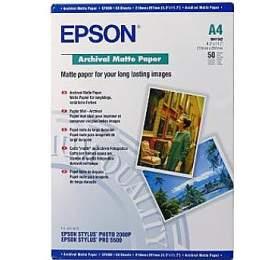 Epson papír Archival Matte, 192g/m, A4, 50ks