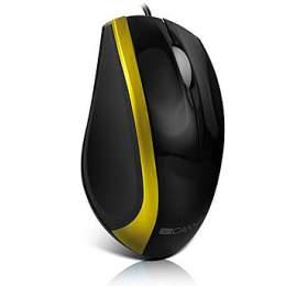 CANYON myš optická, 3tl., 800dpi, USB, černo-zlatá