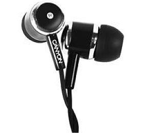 CANYON stereo sluchátka, černá