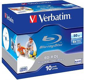 VERBATIM BD-R DL50GB 6xWIDE PRINTABLE BOX 10pck/BAL