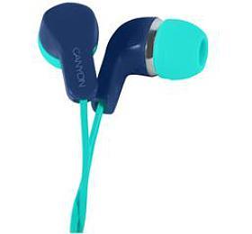 CANYON stereo sluchátka s mikrofonem, zeleno modrá
