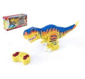 Dinosaurus chodící RCtyranosaurus plast 38cm nabaterie sezvukem sesvětlem 2,4GHz vkrabici