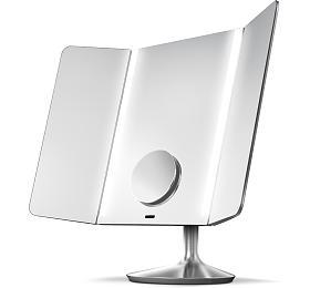 Simplehuman -Wide View 1x/10x detail, dobíjecí, WiFI, nerez ocel