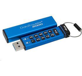 Kingston flash disk 4GB DT2000 256-bit AES šifrování USB 3.1 Gen1