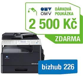 Minolta Bizhub 226 + OMV poukaz 2500Kč