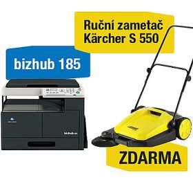 Minolta Bizhub 185 + Kärcher S 550 ruční zametač