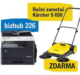 Minolta Bizhub 226 + Kärcher S 650 ruční zametač