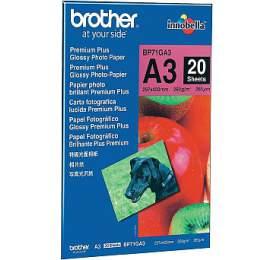 BROTHER fotopapír BP71GA3/ A3/ Premium Glossy/ 260g/ 20listů