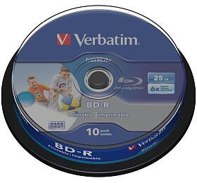 VERBATIM BD-R Blu-Ray 25GB/ 6x/ HTL WIDE printable/ 10pack/ spindle