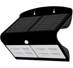 IMMAX venkovní solární LED osvětlení sčidlem/ 6,8W/ 4000-4500K/ 750lm/ IP65/ černé