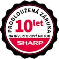 Záruka 10 let na invertorový motor značky Sharp