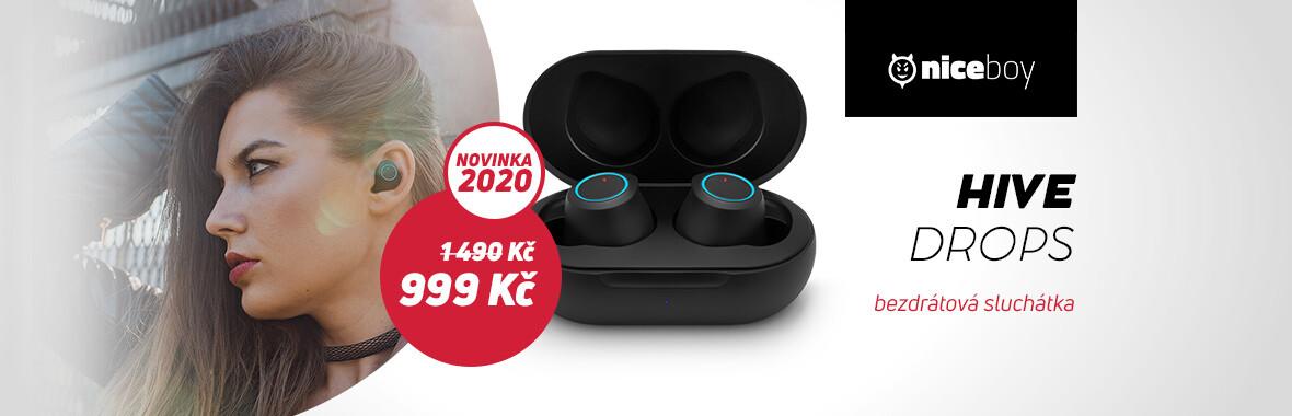 Zakupte sluchátka Niceboy Hive drops za exkluzivní cenu 999 Kč