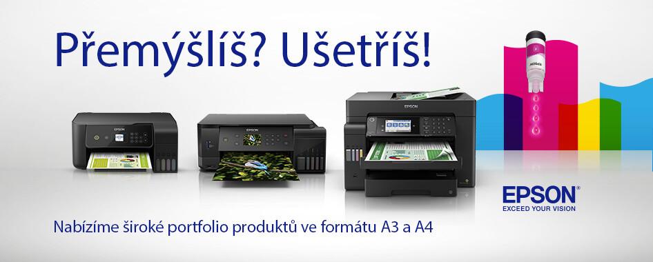 Přemýšlíš? Ušetříš! S tiskárnami EcoTank od Epson