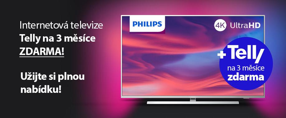 Telly na 3 měsíce zdarma s televizí Philips