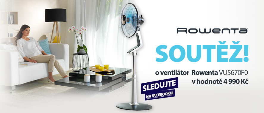 Zapojte se do soutěže a vyhrajte ventilátor Rowenta VU6410F0 Silence