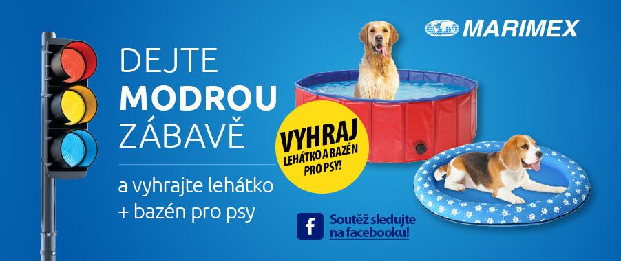 Zapojte se do soutěže a vyhrajte psí bazén a lehátko Marimex