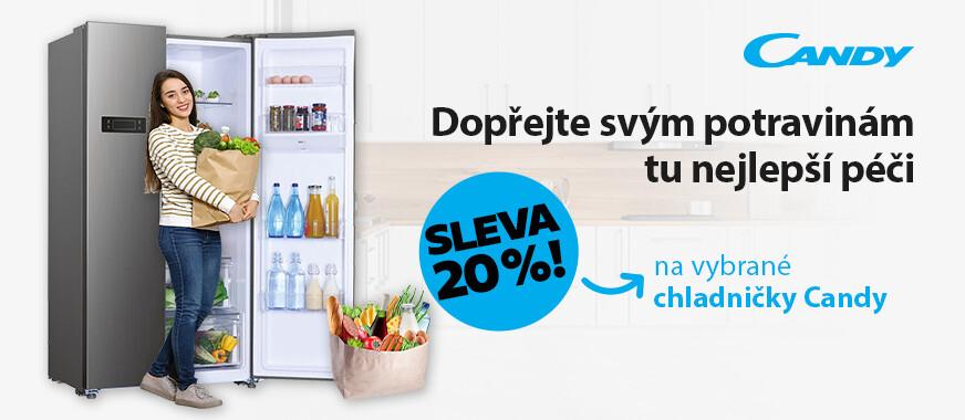 Sleva 20 % na vybrané chladničky Candy