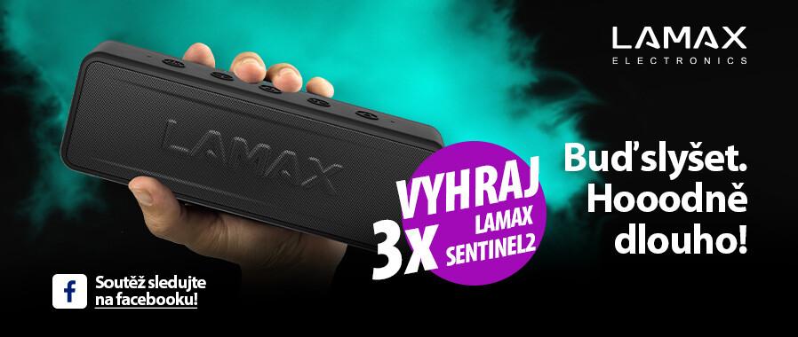 Zapojte se do soutěže a vyhrajte přenosný reproduktor Lamax Sentinel2