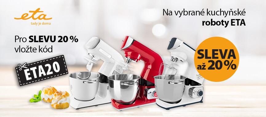 Sleva až 20 % na vybrané kuchyňské roboty Eta