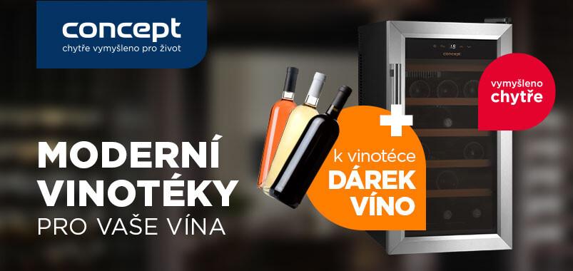 Zakupte vinotéku Concept a získejte dárek