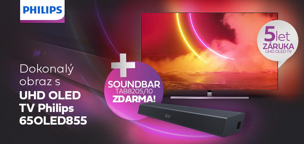 K nákupu Philips OLED TV soundbar zdarma