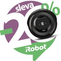 Sleva 20 % na robotické vysavače iRobot