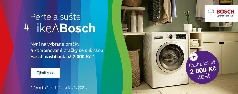 BOSCH vrací až 4 000 Kč při nákupu pračky a sušičky
