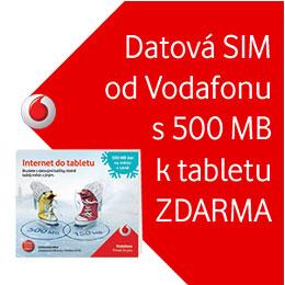 Datova Sim Karta Od Vodafone S 500 Mb K Tabletu Zdarma Onlineshop Cz