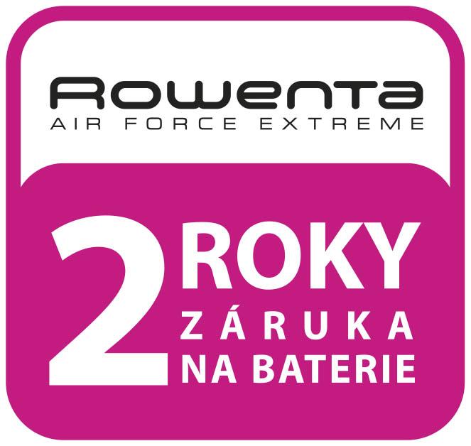 Rowenta - 2 roky záruka na baterii