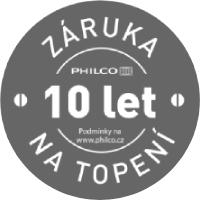 Philco - 10 let ZÁRUKA NA TOPENÍ