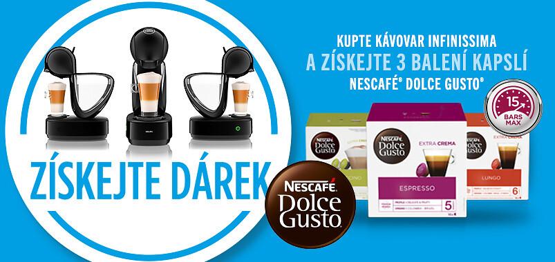 Získejte 3 balení kapslí ZDARMA ke kávovaru Infinissima od NESCAFÉ Dolce Gusto
