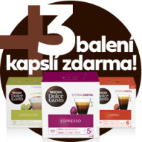 3 balení kapslí ZDARMA ke kávovaru Infinissima od NESCAFÉ Dolce Gusto