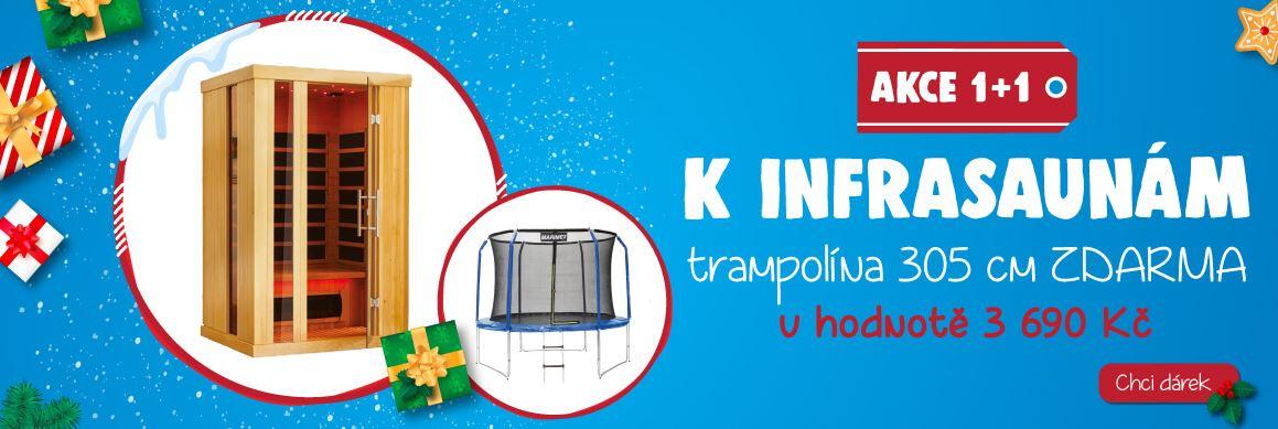 K vybraným modelům infrasaun trampolína 305 cm zdarma!