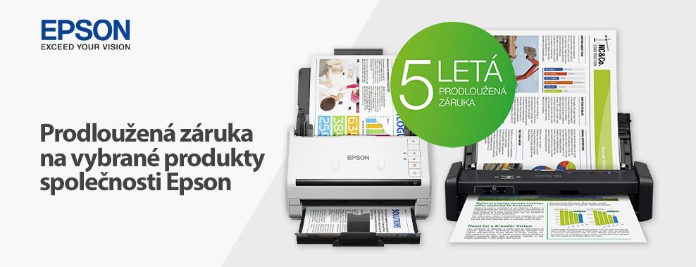 Tříletá prodloužená záruka na vybrané tiskárny EPSON
