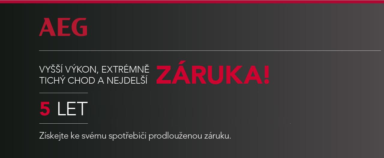 Prodloužená ZÁRUKA AEG na 5 LET