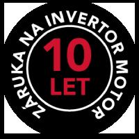 ZÁRUKA AEG 10 LET na INVERTOR MOTOR