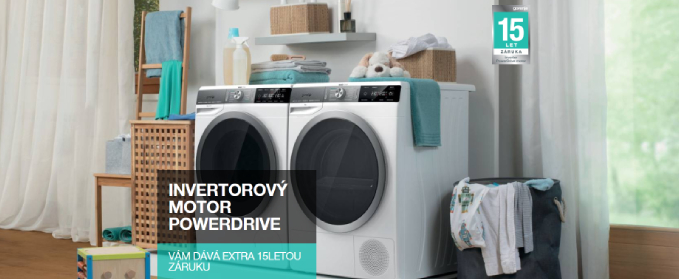 Gorenje WaveActive 15letá záruka na PowerDrive Motor